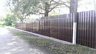 Ограждение штакетное стандарт односторонний 2м*1,25м,,Забор для дома