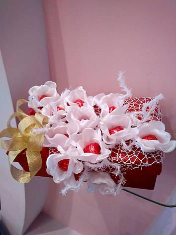 961d298b2c0e Букет из конфет ручной работы на подарочной коробке: продажа, цена в ...