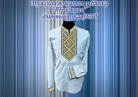 Пошитая мужская рубашка под вышивку ТРАДИЦИЯ №75