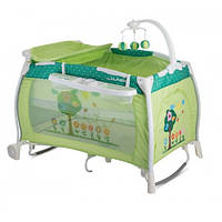 Манеж-кровать Bertoni I`LOUNGE 2L ROCKER (green garden)