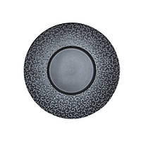 "Тарелка круглая черная матовая с узором 10"" (25,4 мм) FC0010-10"