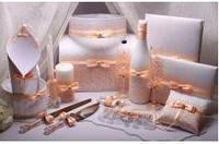 Свадебный набор аксессуаров для свадьбы в персиковом цвете