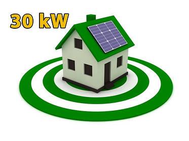 """Сонячна електростанція під """"зелений"""" тариф на 30квт, як інвестиційний проект для домогосподарства."""