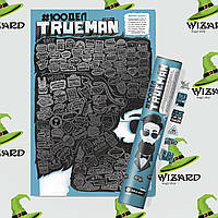 "Скретч постер 100 ДЕЛ ""TrueMan Edition"""
