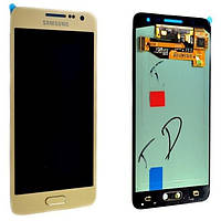 Дисплей Samsung A300h Galaxy A3, Gold, GH97-16747F