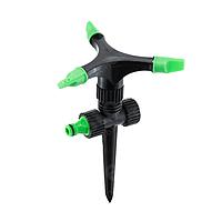 Дождеватель Ирис 2921 на ножке, 3 регулируемых сопла, пластик, последовательное подключение, 12 шт.