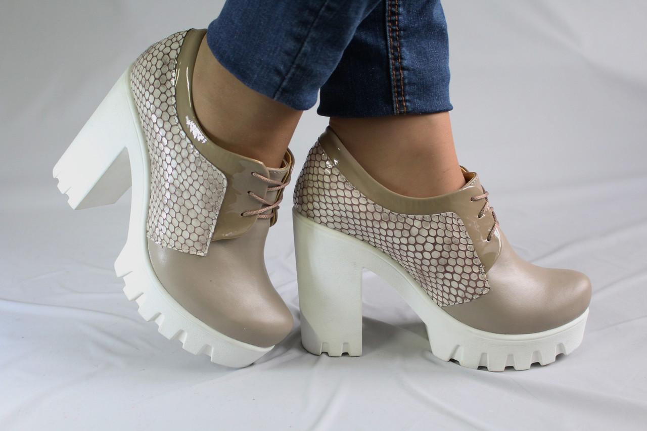 658ce1e8b Закрытые туфли на устойчивом каблуке. Ботильоны. Натуральная кожа 0645 - Интернет  магазин обуви от