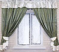 Комплект плотных штор с вставками 1,7мх2,8м. е261