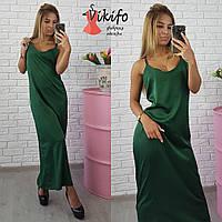 Платье комбинация модное из шелка 5 цветов SMf1467