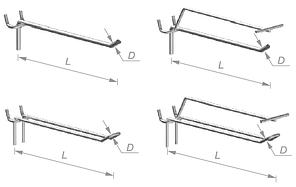 Крючки цинк на перфорацию, фото 2