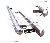 Защитные боковые подножки трубы для Ford Connect 2002-2014, Ø 42 \ 51 \ 60 мм, кор (L1) / длин (L2) базы