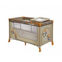 Детский манеж-кровать Bertoni NANNY 2L (beige safari tours),ПЕЛЕНАТОР,сумка для переноски, матрас в комплекте