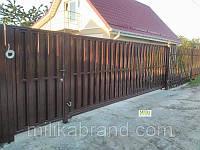 Ограждение штакетное стандарт двухстороннее 2м*0,5м. Забор для дачи