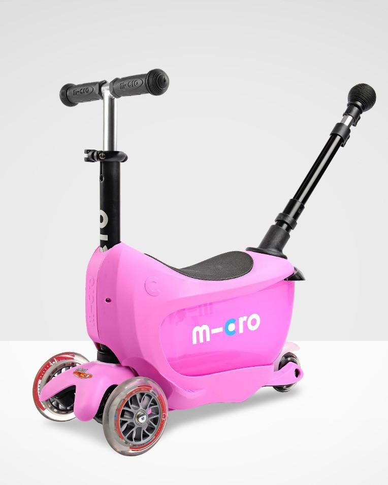 Самокат Mini Micro 2go  Deluxe Pink Plus (Розовый)