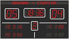Светодиодное спортивное табло Flylights Одноцвет 4 х 3