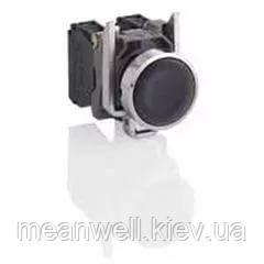 XB4BA21 Кнопка управления Schneider Electric 22мм, 1NO, черная, металлическое основание IP66
