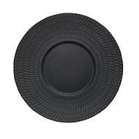 "Тарелка круглая черная матовая с узором 10"" (25,4 мм) FC0002-10"