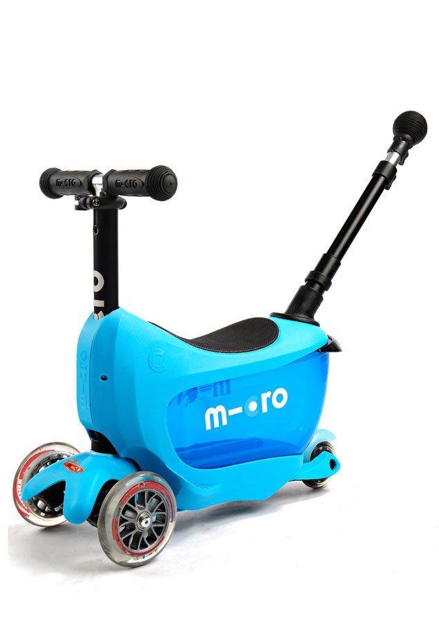 Самокат Mini Micro 2go  Deluxe Blue Plus (Синий)