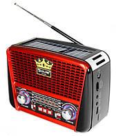 Портативная колонка MP3 USB Golon RX-456S Solar с солнечное панелью Black-Red