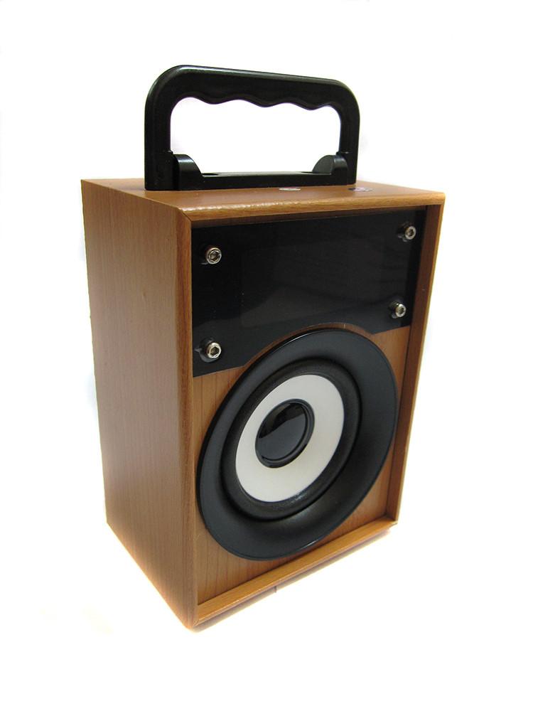 Портативная bluetooth колонка MP3 плеер KTS-668 Wooden