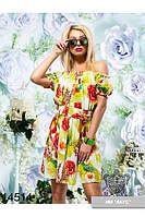 Легкое штапельное платье  3 цвета