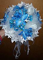 """Свадебный букет-дублёр невесты """"Кружева"""" (голубой)"""