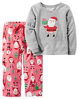 Детская новогодняя пижамка из флиса Картерс для девочки