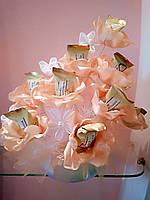 Небольшой букет из конфет Мармеладный персик
