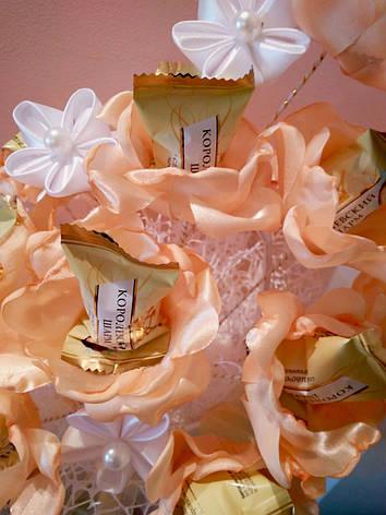 Небольшой букет из конфет Мармеладный персик, фото 2