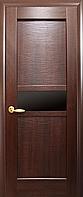 Двері міжкімнатні Новий Стиль, Ностра, модель Рима, з чорним склом