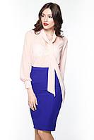 """Блуза бант """"Tiffany"""" персик"""