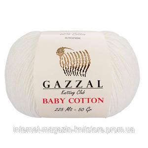 Пряжа Gazzal Baby Cotton Кремовый