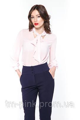 """Блуза бант """"Tiffany"""" рожева"""