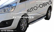 Боковые площадки для Ford Tourneo Custom, стиль Porsche Cayenne, кор (L1) / сред (L2) / длин (L3) базы