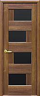 Двері міжкімнатні Новий Стиль, Ностра, модель Сієна, з чорним склом