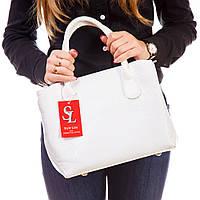 Белая лаковая сумка 1379wr фигурная под питона