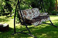 Подушки,матрасы для садовых качель 150 см. цветы