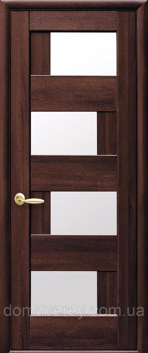 Двери межкомнатные Новый Стиль, Ностра, модель Сиена, со стеклом сатин
