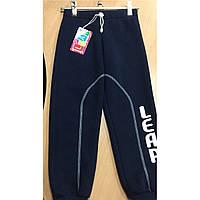 Теплые штаны трехнитка на байке для деток на рост 110 темносиние, фото 1