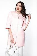 """Жіночий тренч жакард """"Tiffany"""" рожевий"""