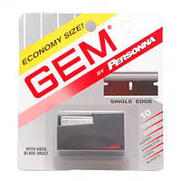 GEM Personna Stainless Steel Single Edge Razor Blades, 10-pak Двусторонние лезвия 10 шт