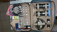 Набор посуды 4 человека нержавейка + термосумка 003