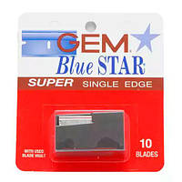 GEM Blue Star Super Single Edge Razor Blades, 10-pak Двусторонние лезвия 10 шт