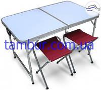 Раскладной набор мебели для пикника (стол + 4 стула)