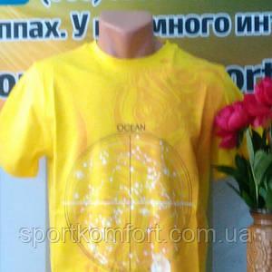 Футболка хлопковая турецкая Соккер, желтая.