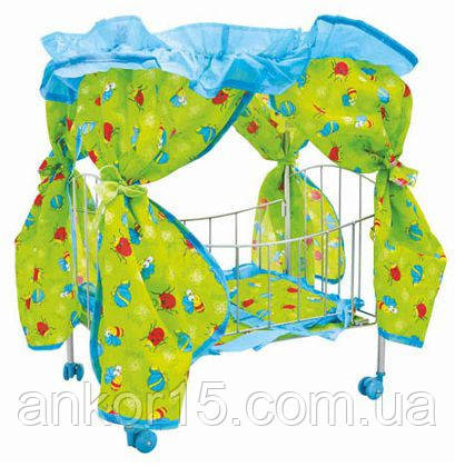 Кроватка 9350 /015 балдахин, колесики