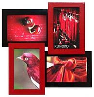 Оригинальный фотоколлаж на 4 фото Красное и Черное