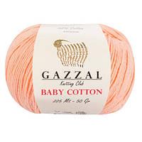 Пряжа Gazzal Baby Cotton Персиковый