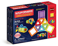 Магнитный конструктор MAGFORMERS Набор Супер 3Д плюс, 50 элементов