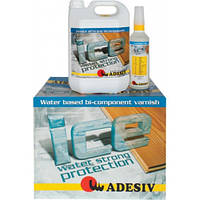 Ice, двухкомпонентный водный полиуретановый лак 4,5+0,45 кг.